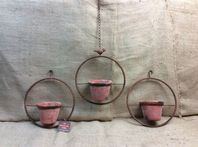 3 Pot Circular Design Hanging Planter